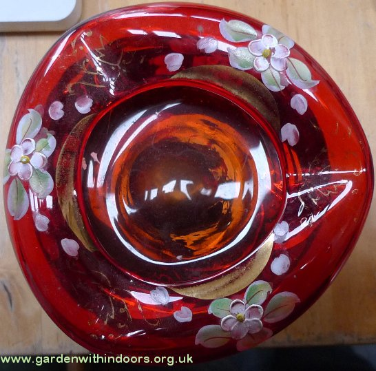 bohemian glass ashtray